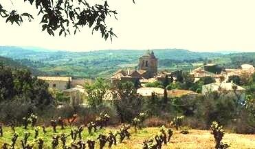 village de vignes entre mer et montagnes