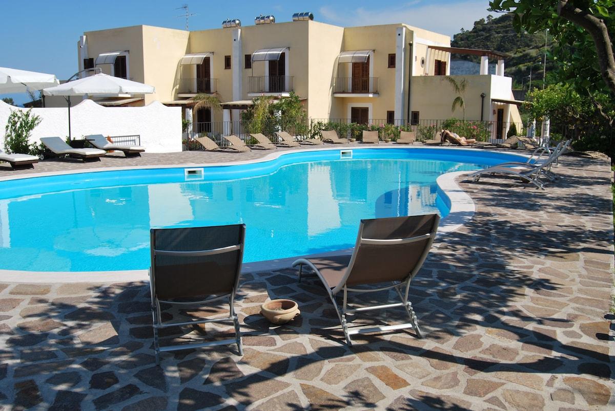 Villa Saraceno,Lipari,Eolian Island
