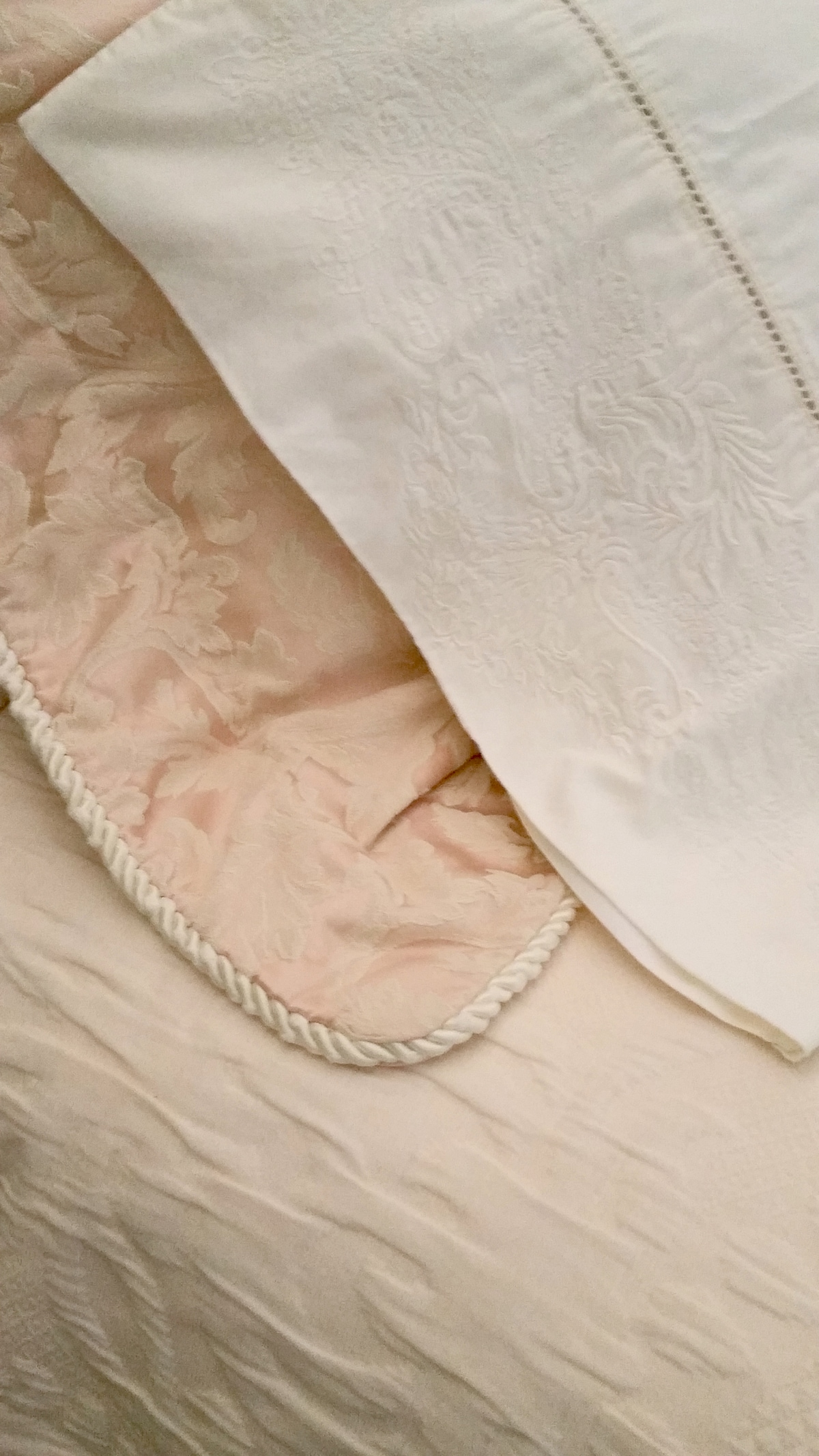 Imported fine linens from France and Italy
