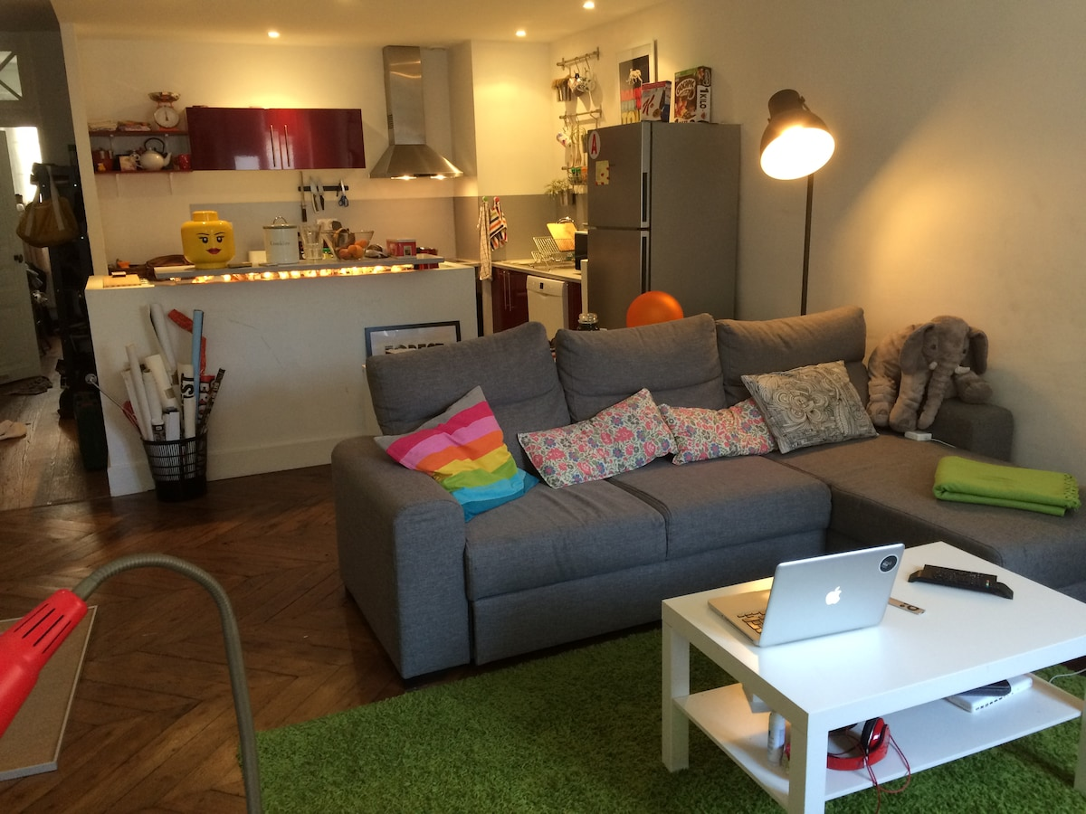 Cosy flat 60m2 in the center