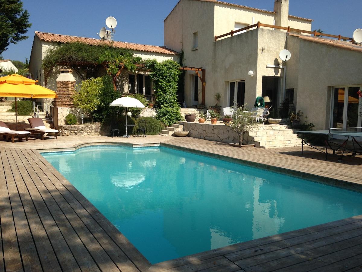 Villa avec piscine près Montpellier