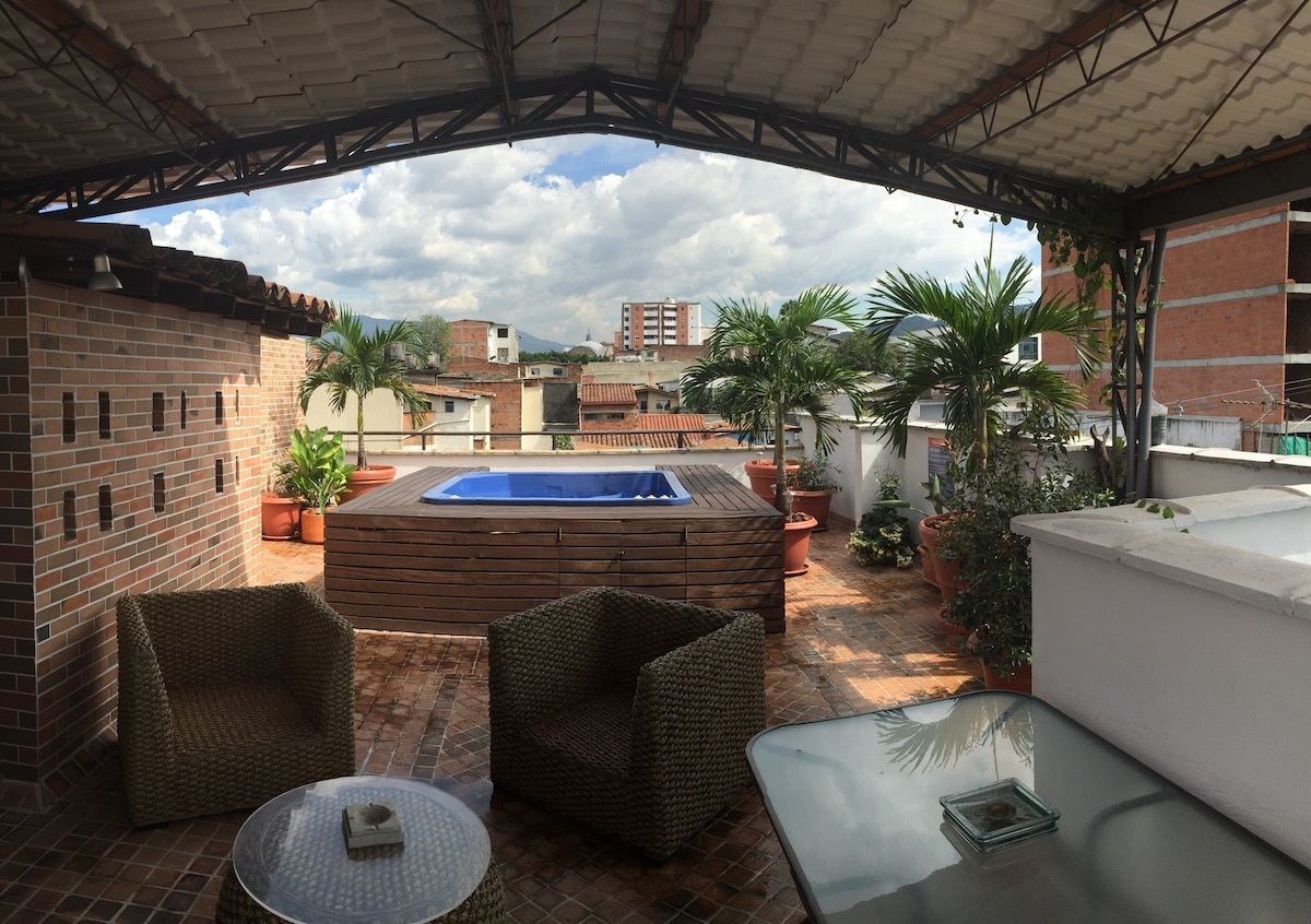 Private rooftop terrace just for this apartment.