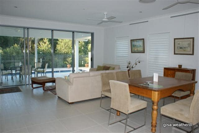 open lounge, dining & kitchen