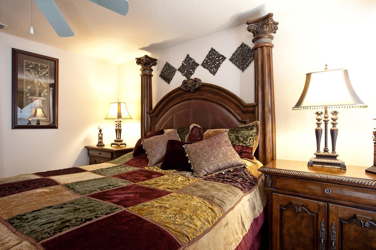 Luxury king master bedroom for a great night sleep