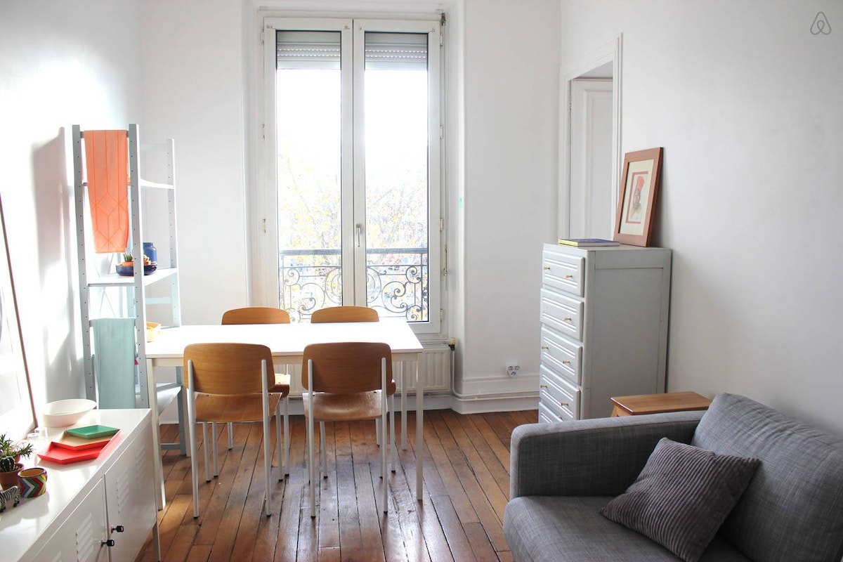 Lumineux 50m² Paris / 3 pièces