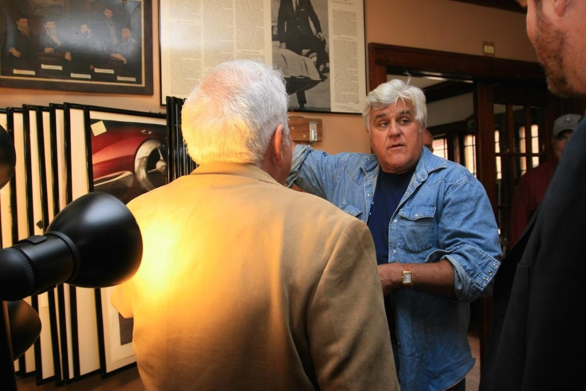 You never know who will show up at the Avanti House...yes, that's Jay Leno, an Avanti aficionado!