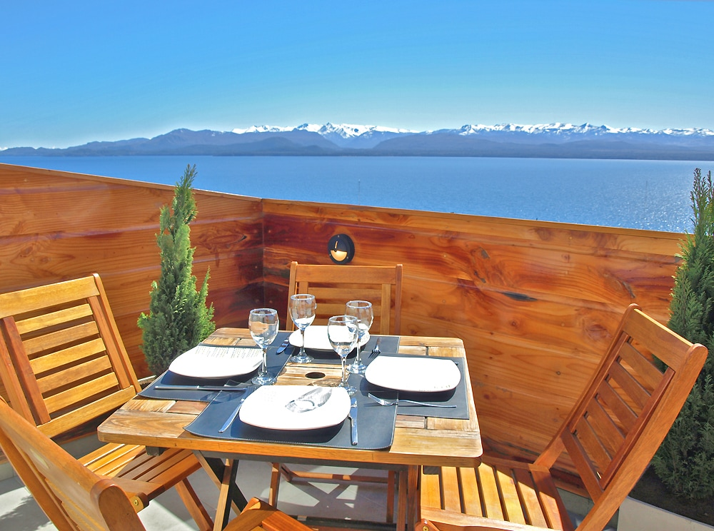 Fantastic views from the terrace, you can't get much beter than this!