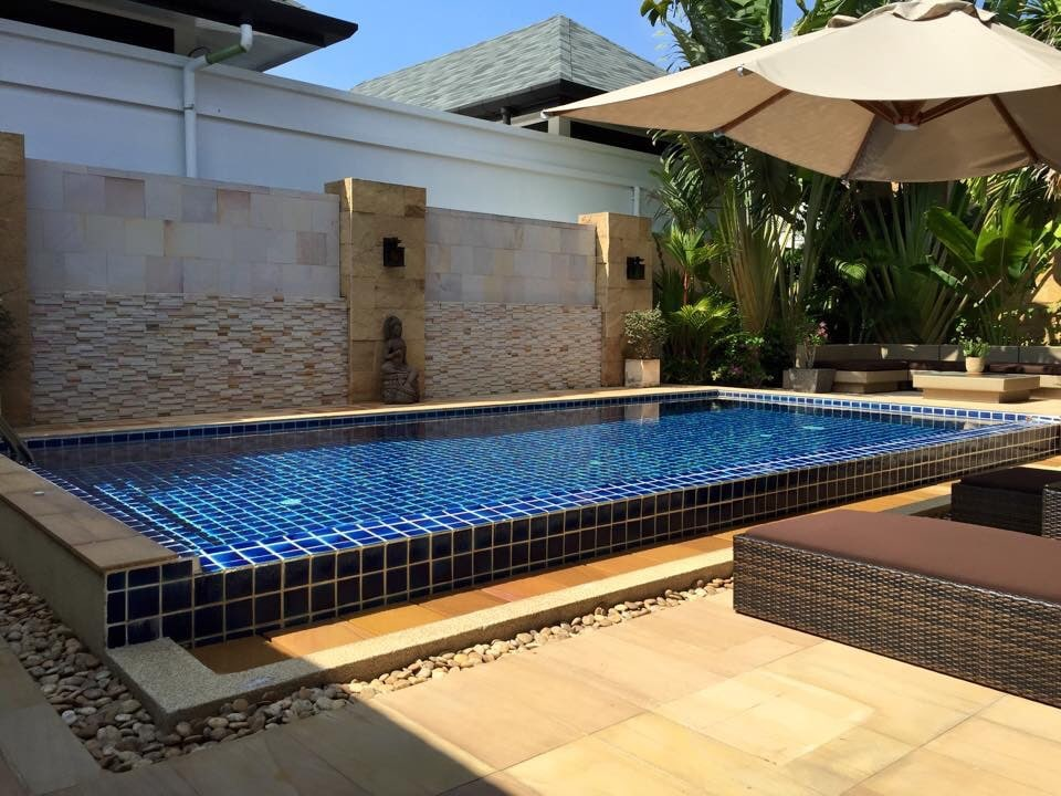 Tropical private pool villa