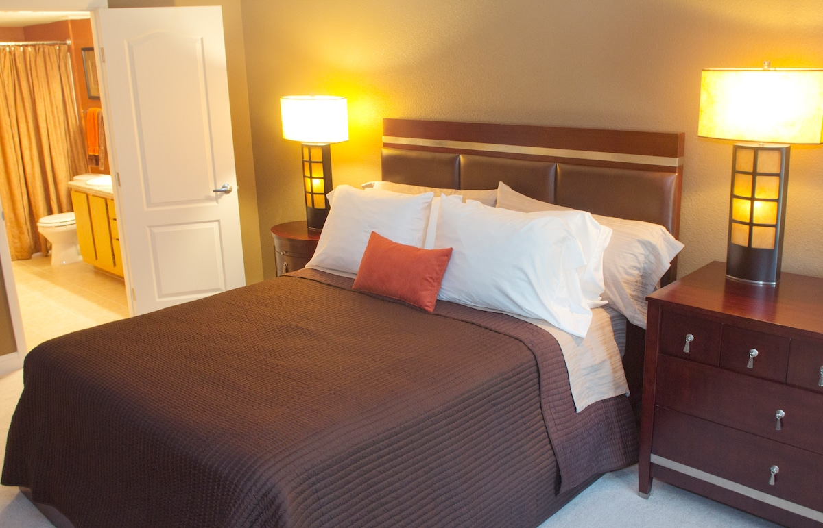 Master Bedroom is luxurious