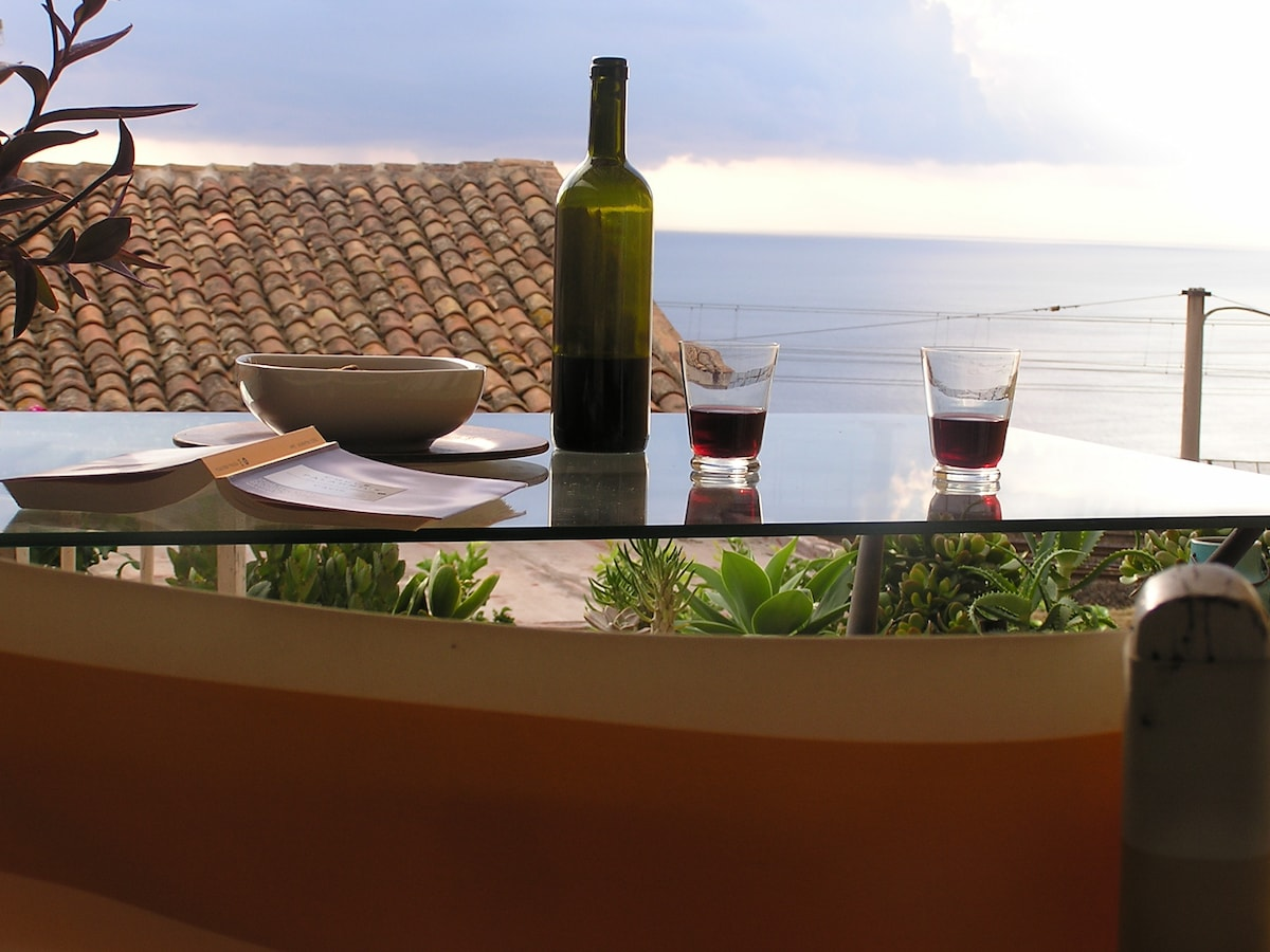 Let's have a glass of wine on the terrace...
