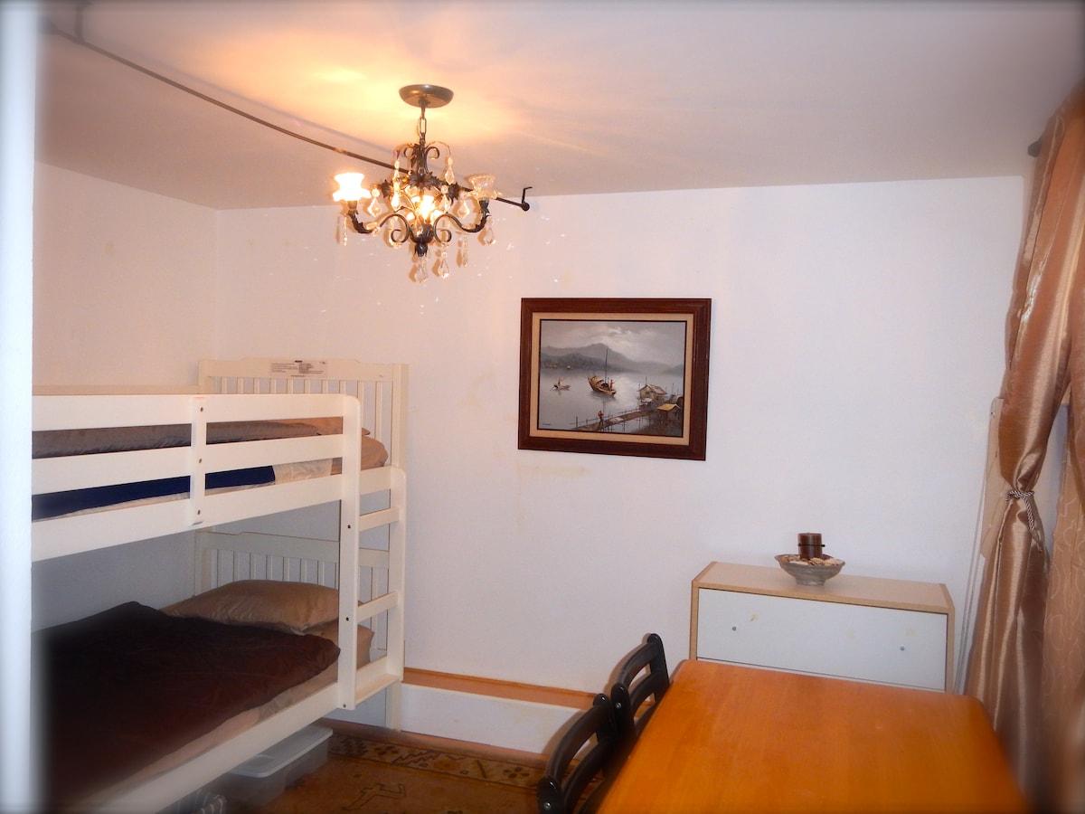Sharing a small room on upperbunk