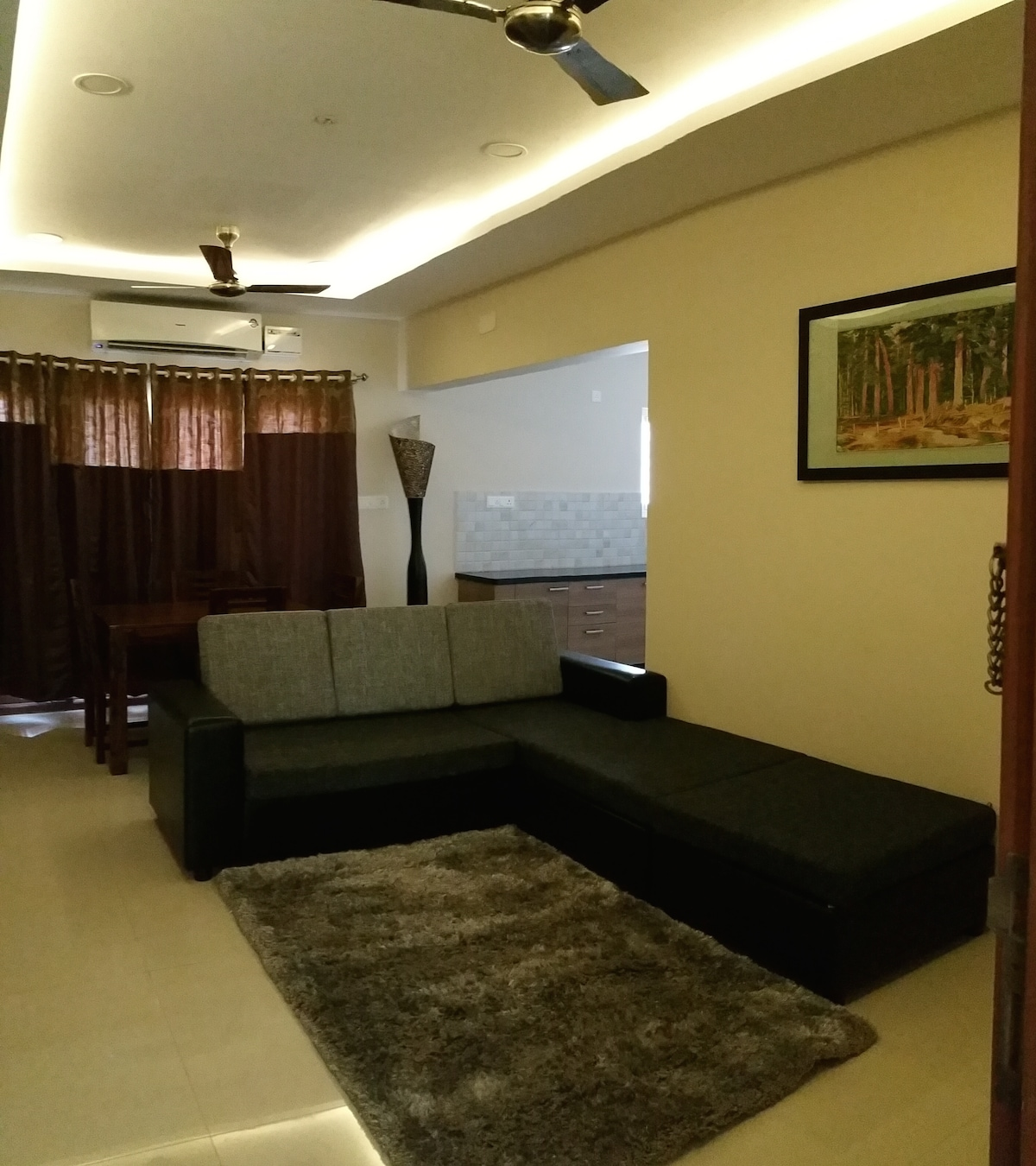Fully-furnished apt off mount road