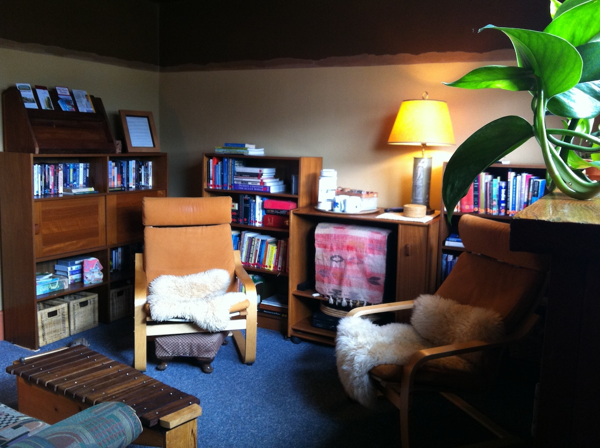 You'll find books, toys, videos, a marimba and a TV hiding out.