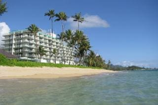 Hawaii Paradise BEACH FRONT Condo view from the ocean.
