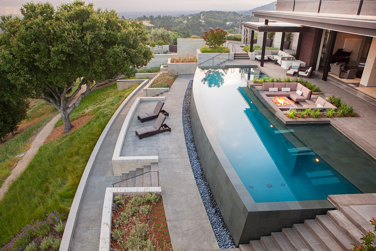 contemporary masterpiece houses for rent in los altos hills airbnb insane sf