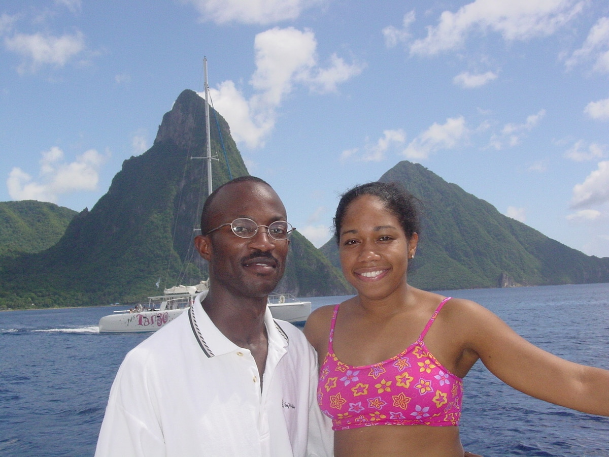 Gina And Cosmas From Saint Lucia