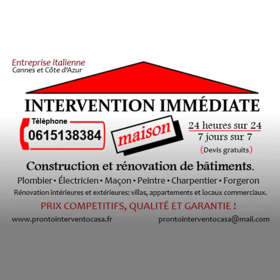 Intervention Immédiate Maison from Cannes
