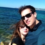 Young couple, love travelling, love discovering ne