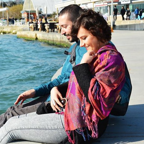 We are Duygu and Ayberk, a young Turkish married c