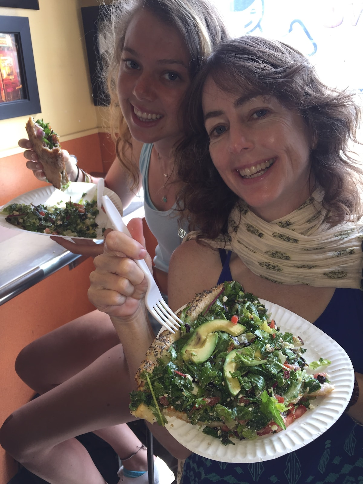 """(profile photo: sharing famous Abbot Pizza """"salad"""