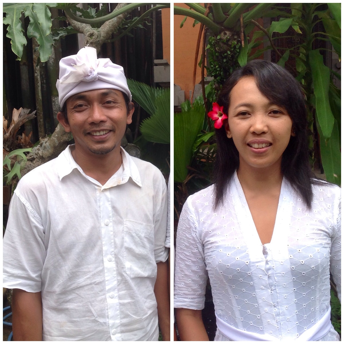 Hi! I'm Kadek, and this is my wife Ayu!  We are