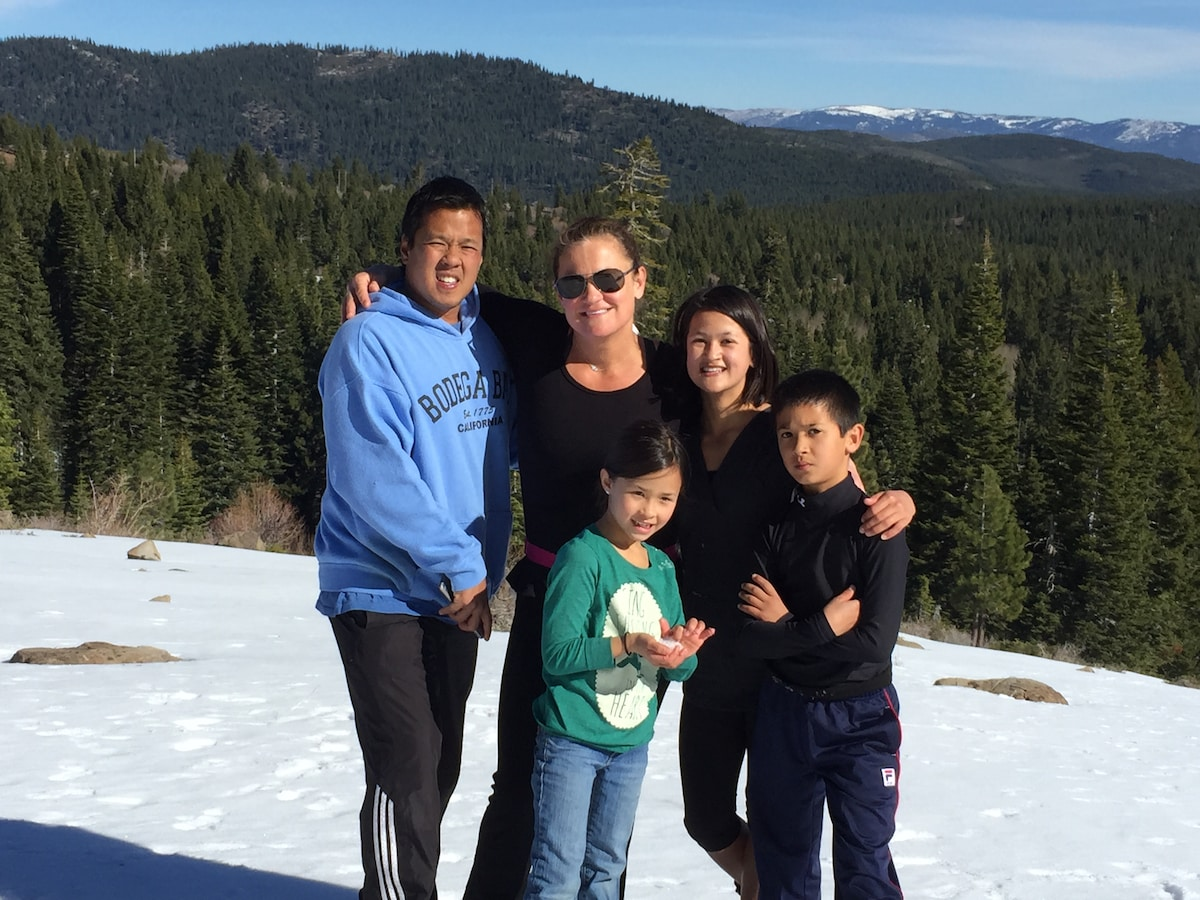 Married couple with three children. Love to travel