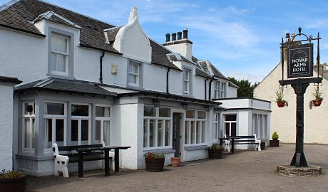 Novar Arms Hotel from Evanton