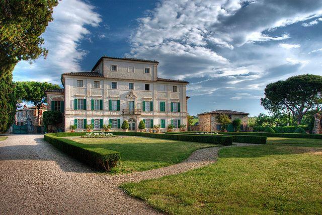 Villa Di Geggiano from Castelnuovo Berardenga