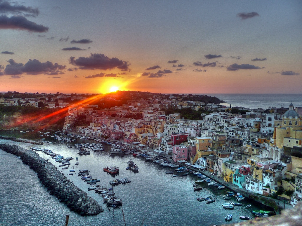 Le Querce from Procida