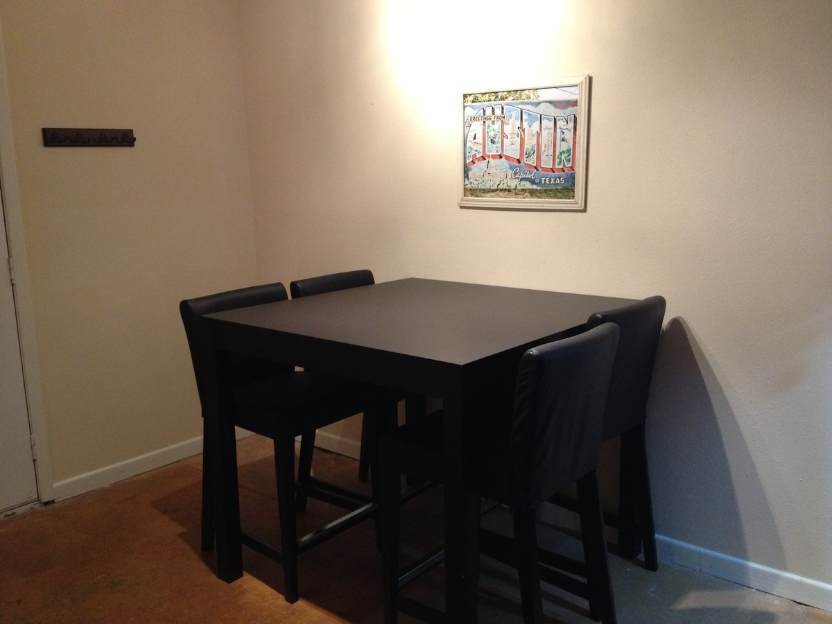 Dining Table - Four Chairs (plus two bar (email hidden))