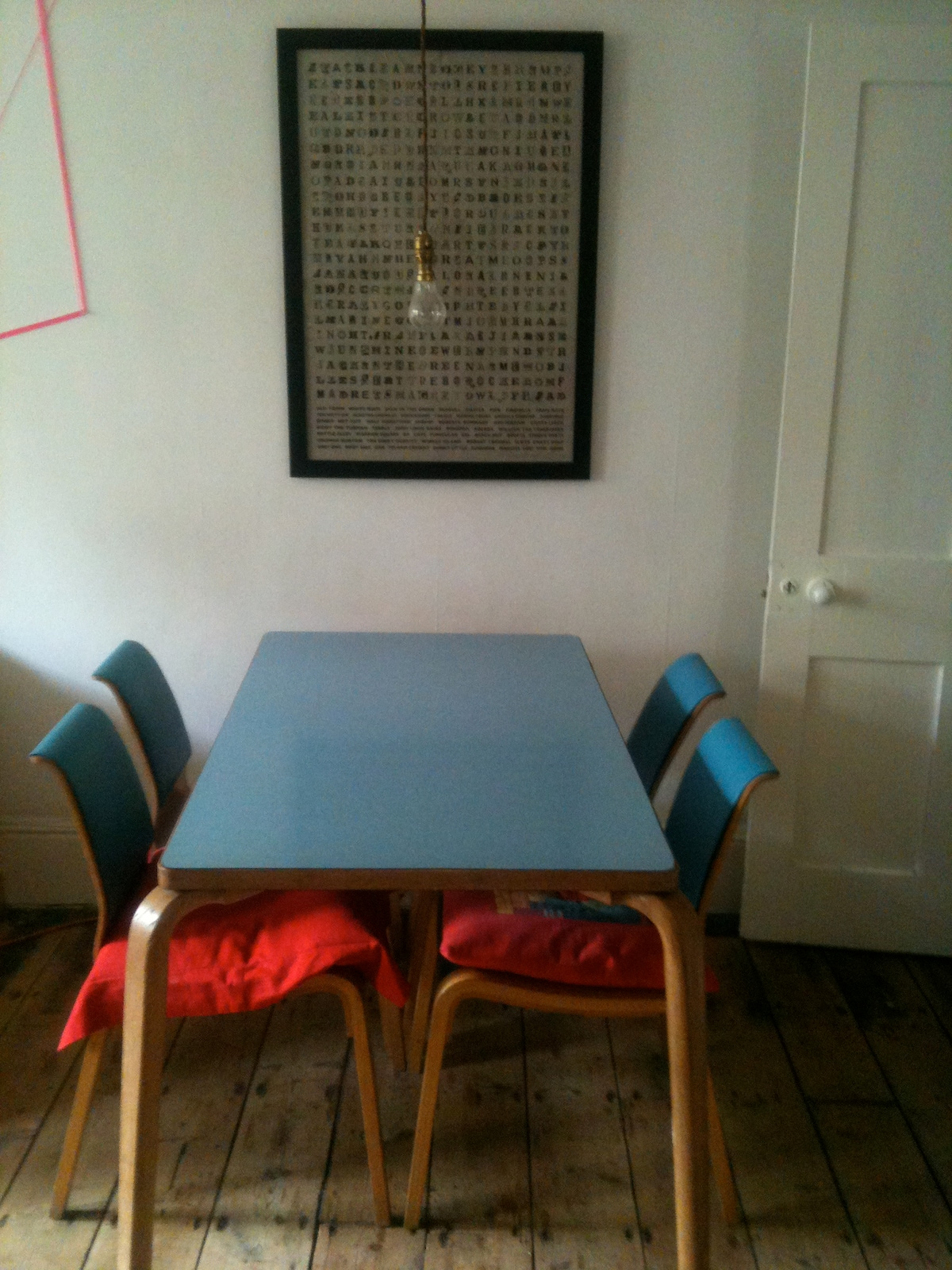 Dining space - there are enough chairs for 6 people.