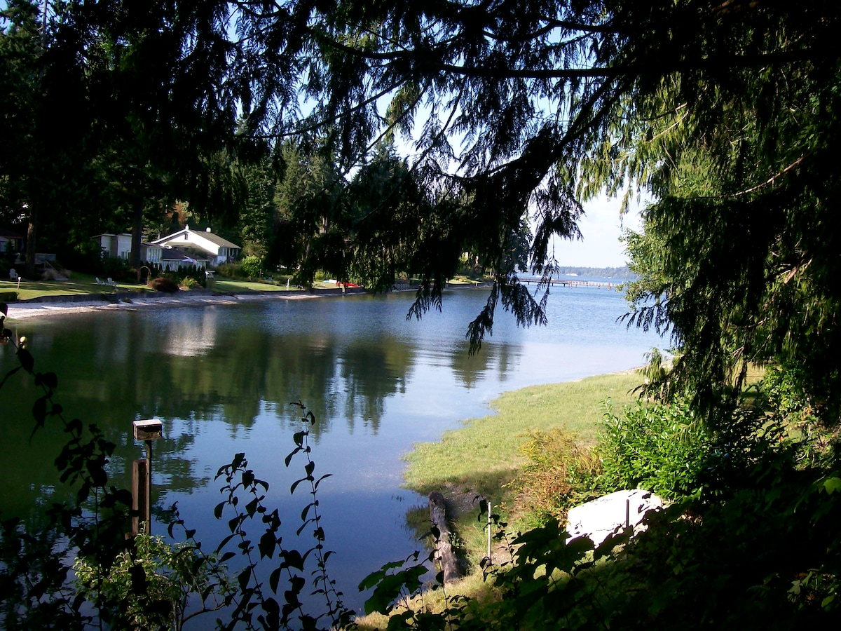 View at high tide from front deck.