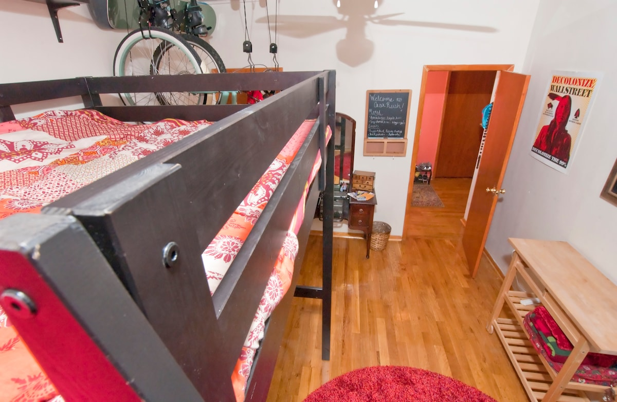 Having a loft bed means more room for you!