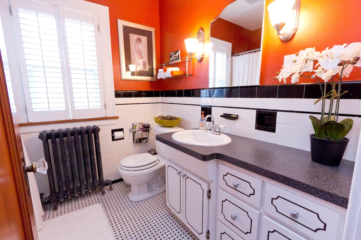 Enjoy your own private bathroom directly across from your bedroom