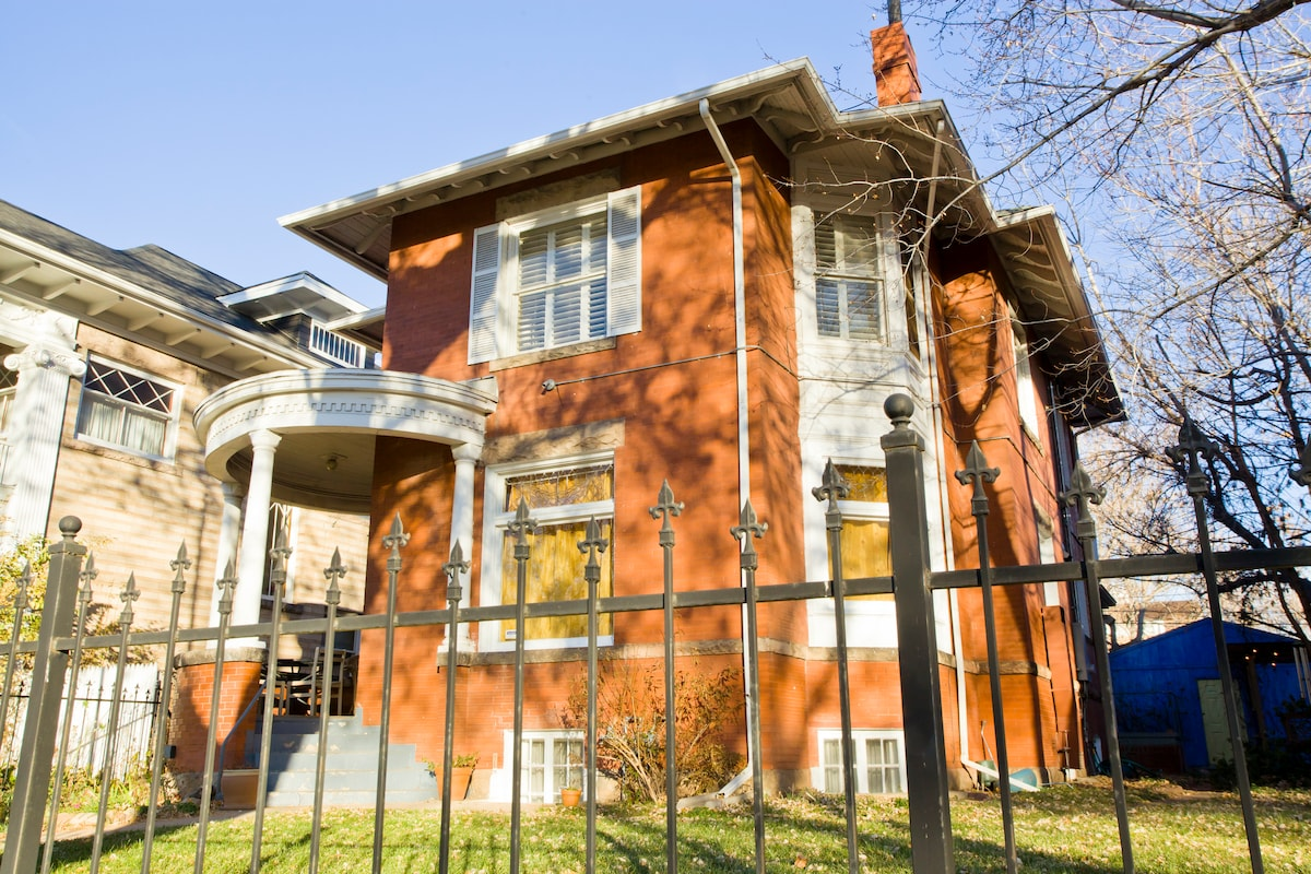 Victorian house, built in 1898, just one block from Denver Botanic Gardens.