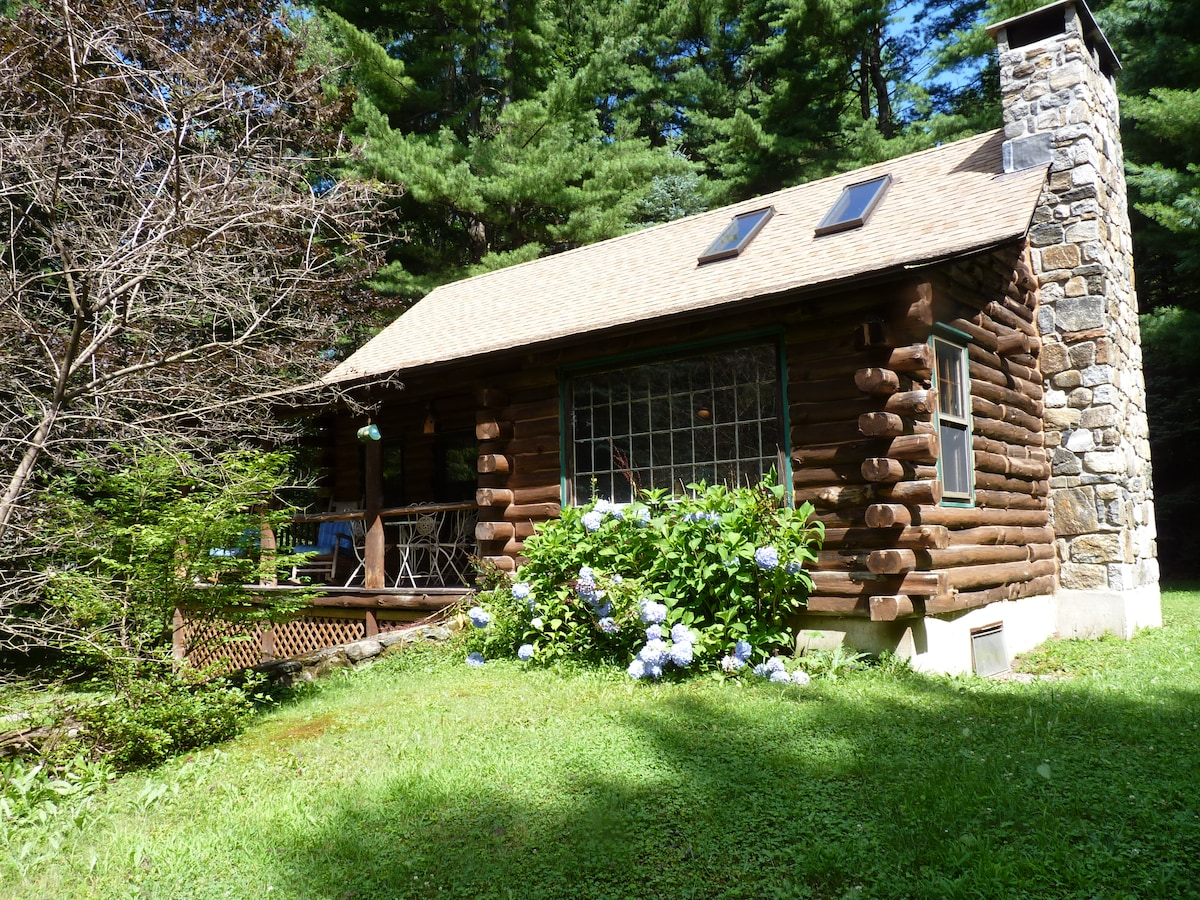 Our authentic cabin in Litchfield County is located on 7 private acres.