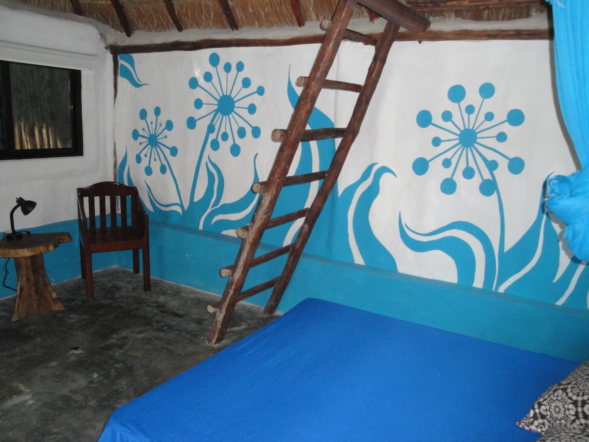 Freshly painted walls by local artist