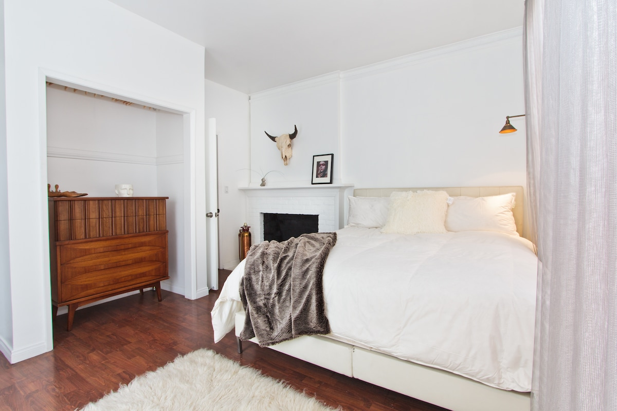 Master Bedroom with Cal King Bed.