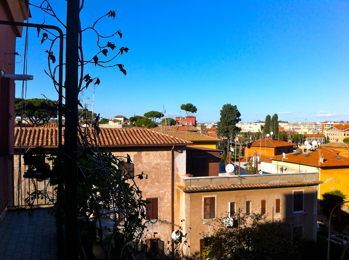 On the roof of Rome - view from the balcony