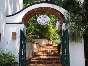 The entrance to Selva Romantica off of Francisca Rodriguez