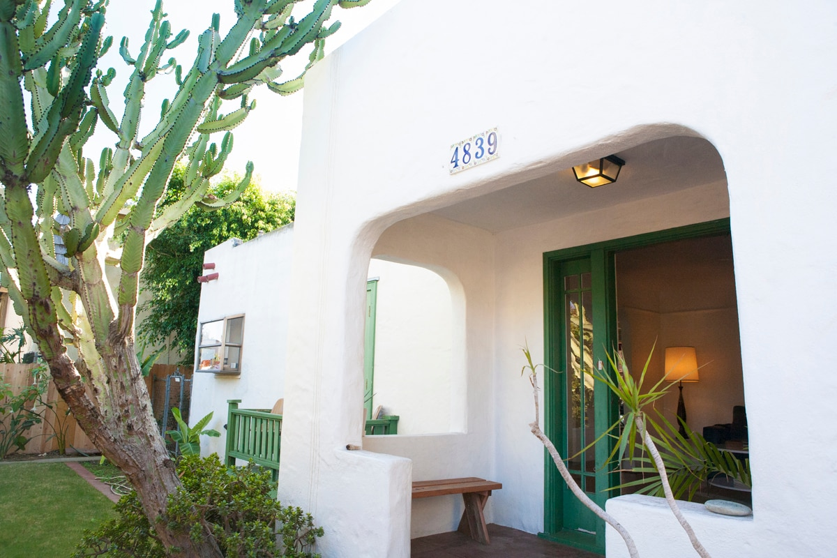 front house is a 1930s historic spanish home, sleeps 8