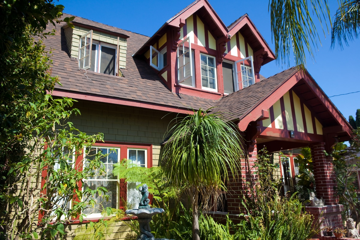 This is a 1914 English Tudor Craftsman completely remodeled with integrity.