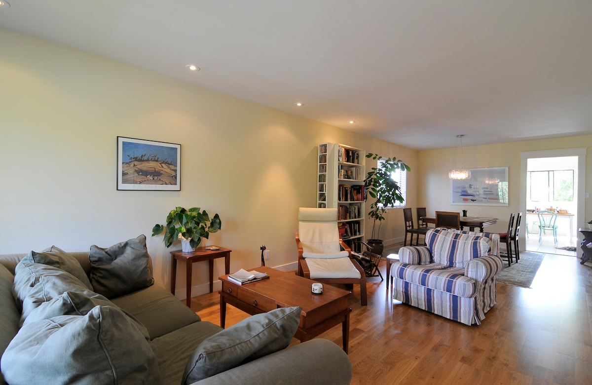 Dine, read, play games or listen to music  in the shared living/dining room room