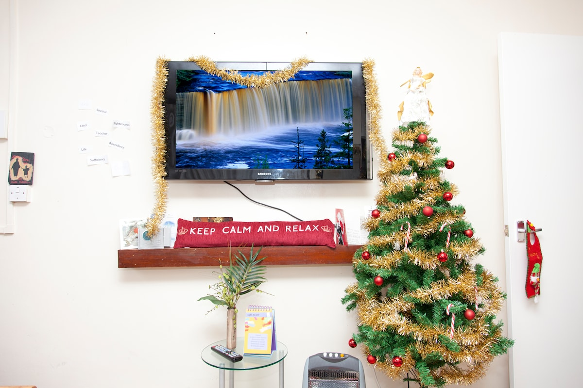 Photo taken in December when Christmas decorations were still up!
