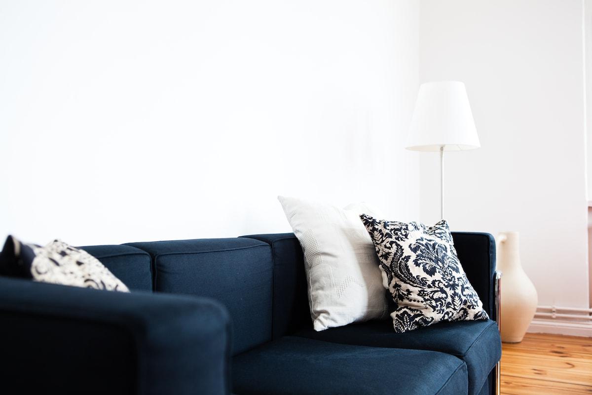 Apartment furnished with designer furniture