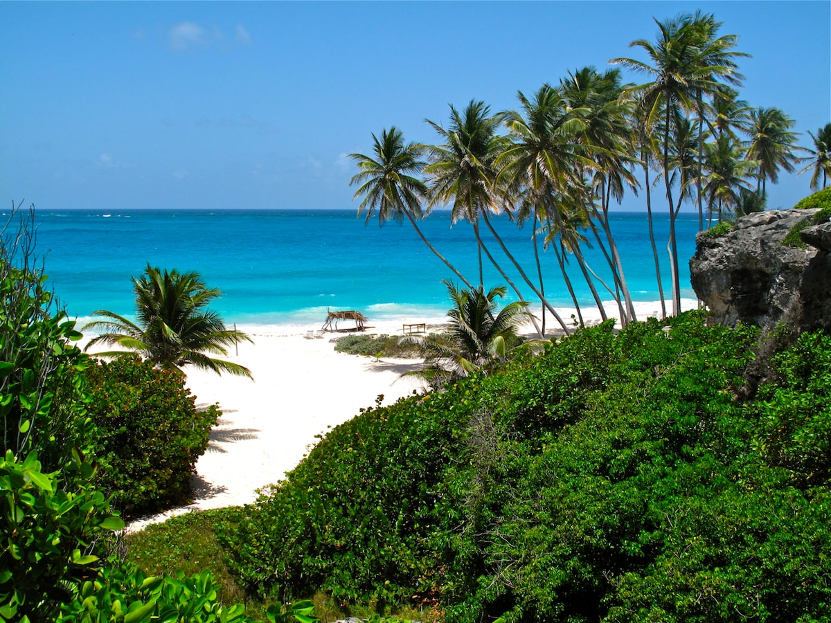 Bottom Bay, the most beautiful beach of Barbados, our favorite, within walking distance