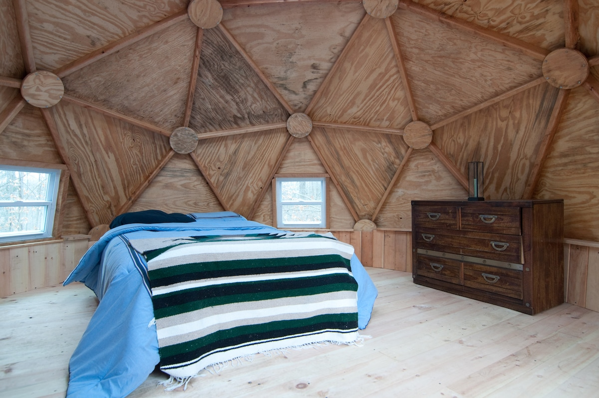 Geodesic Dome in the Wooods