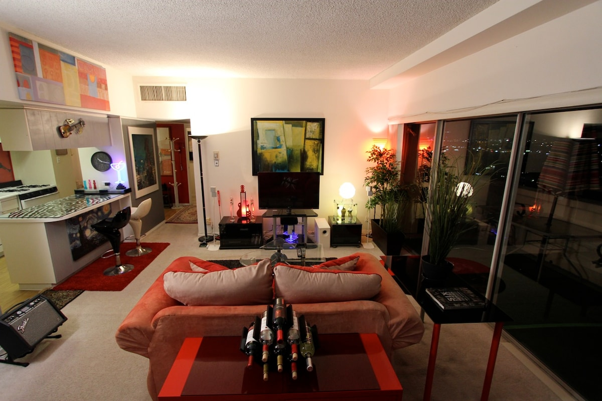 East View of the Apartment's Living/Entertainment Center