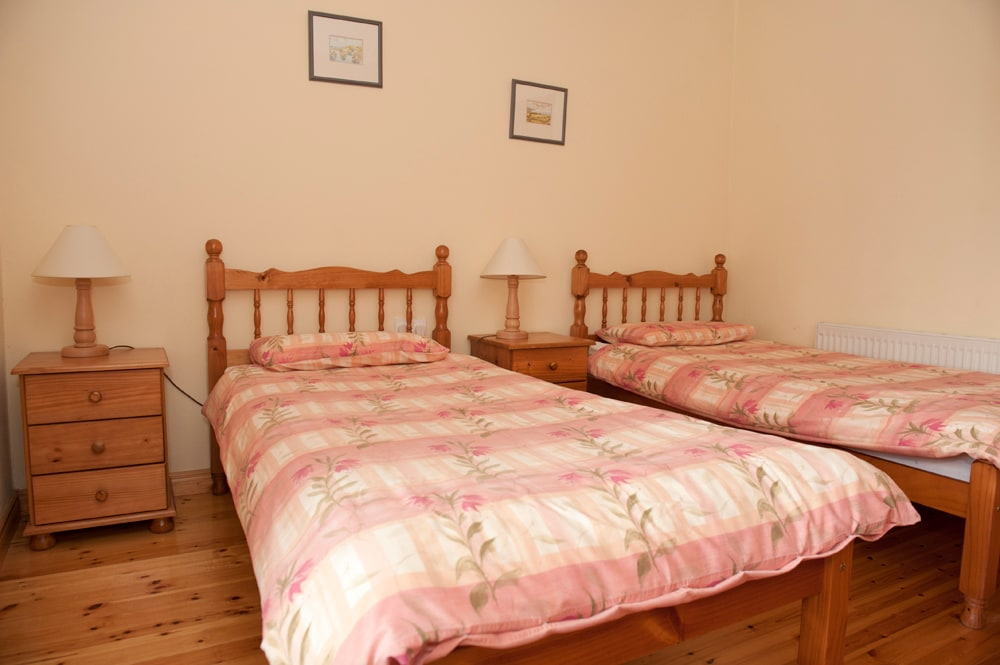One of the twin rooms in the Old Farmhouse