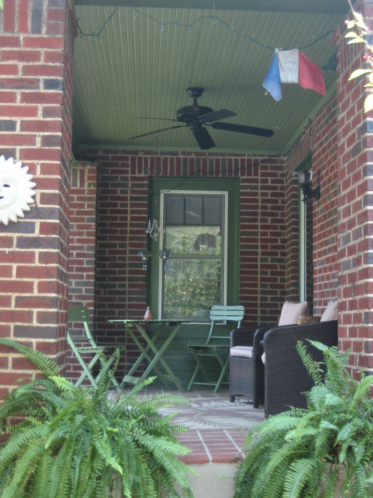 Front Porch with ceiling fans & seating areas